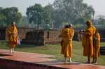 Four Theravadan Monks Photographing in Lumbini, Nepal