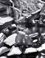 Cavendish Gorge, Rock with Hole, Icicles