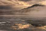 Post Pond, Lyme NH, Mist, Hill and Melting Ice II